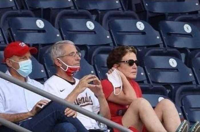 BUSTED: Dr. Fauci caught NOT wearing mask at a baseball stadium after weeks of lecturing us to wear a face mask in public