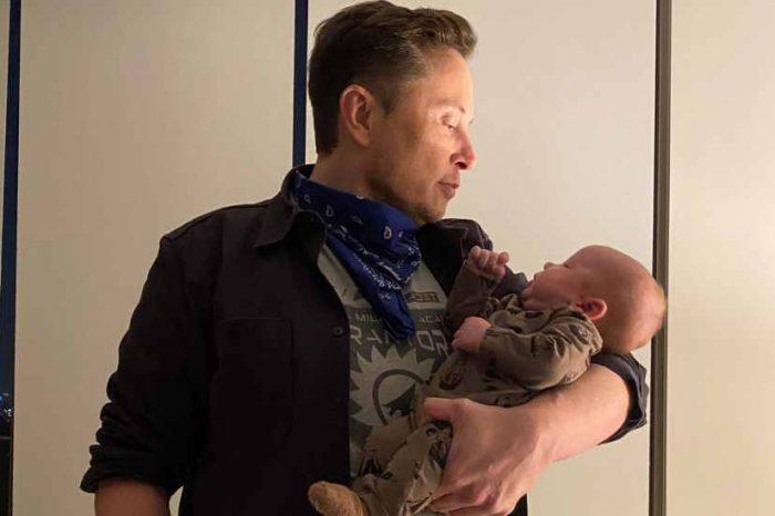 Elon Musk shares the picture of his new baby - 'Das baby kann noch keinen löffel benutzen'