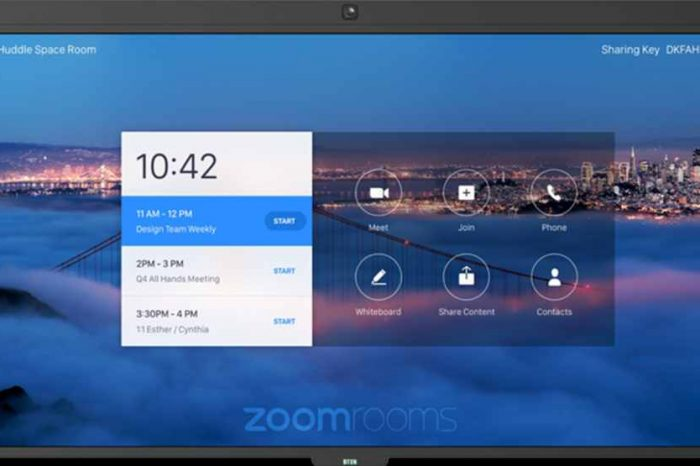 Video conferencing company Zoom expands into hardware with $599 video chat deviceas remote work shows no signs of going away