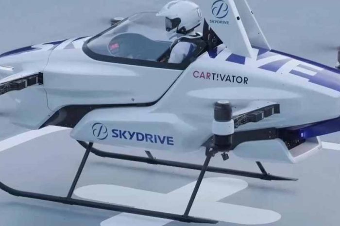 Japan's drone startup SkyDrive demonstrates the first successful test flight of flying car in Japan
