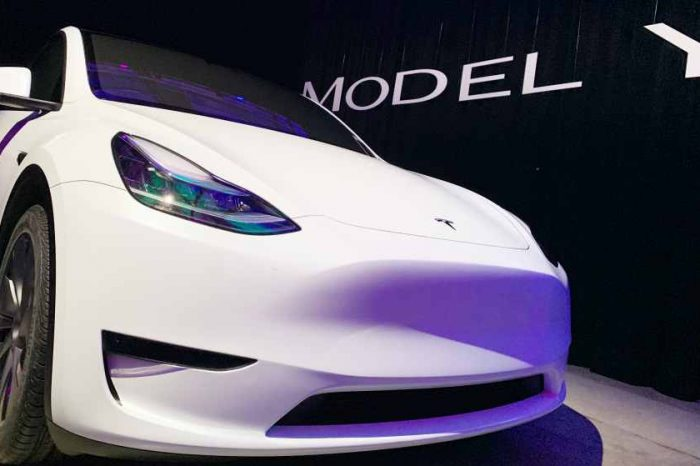 Elon Musk teases a video of Tesla Model Y luxury SUV
