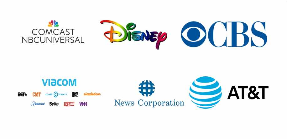 These 6 corporations control 90% of the media outlets in America. The illusion of choice and objectivity