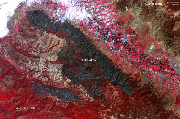 This is what California's wildfires look like from space