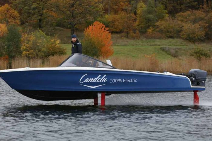 Meet the Candela Seven, the world's first flying electric-powered hydrofoil speedboat