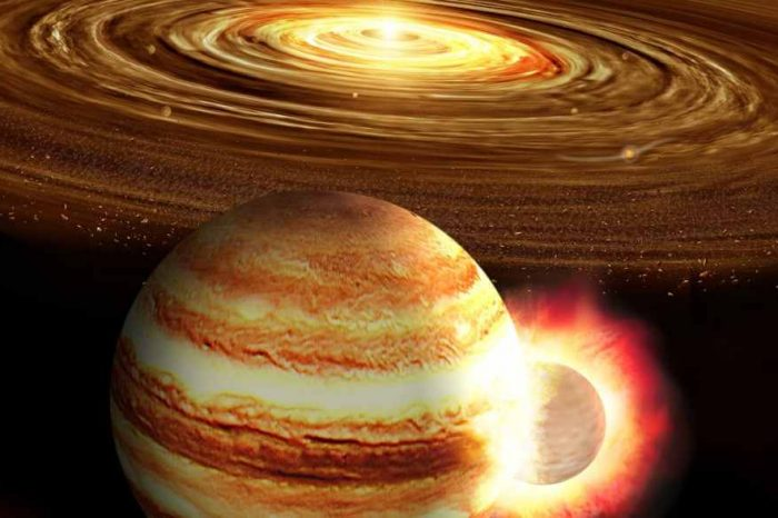 This is how Jupiter's gravity helps to pull and interrupt asteroids from hitting Earth
