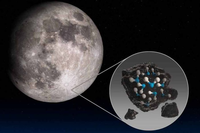 NASA discovered evidence of hidden water on a sunlit surface of the Moon for the first time