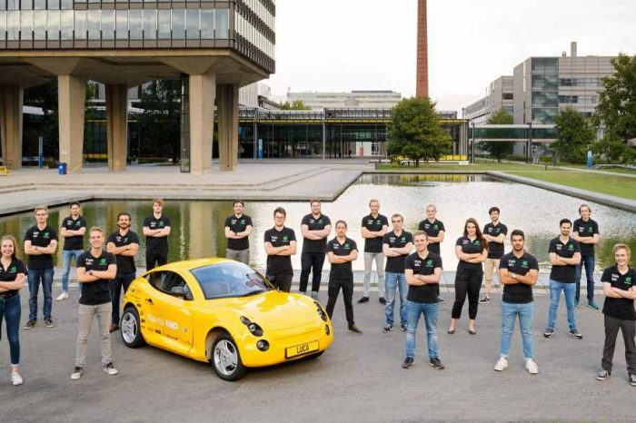 Meet Luca, an electric car made entirely from recycled waste by Dutch students from Eindhoven University
