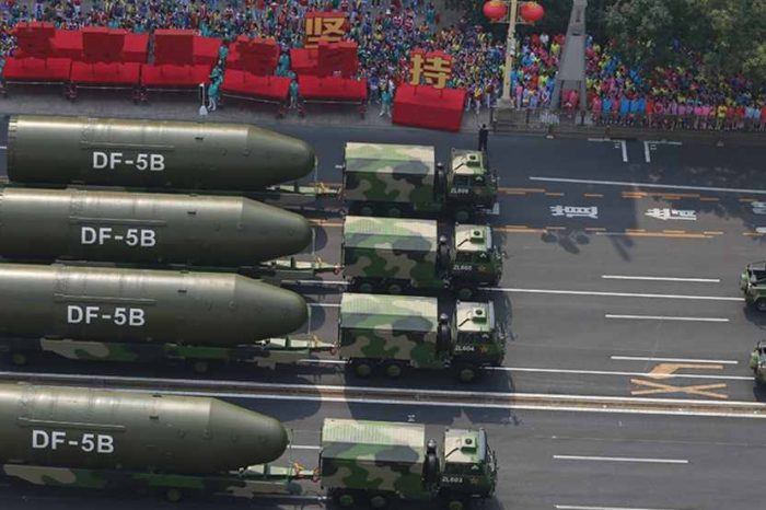 China's nuclear stockpile increased to 360 warheads, significantly higher thanthe estimate from the U.S. Defense Department, Nuclear Information Project says