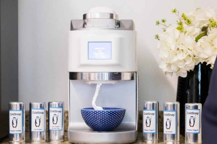 "Meet ColdSnap, the ""Keurig"" of ice cream, smoothies, and frozen yogurt. You can now make your own homemade ice cream in less than 2 minutes"