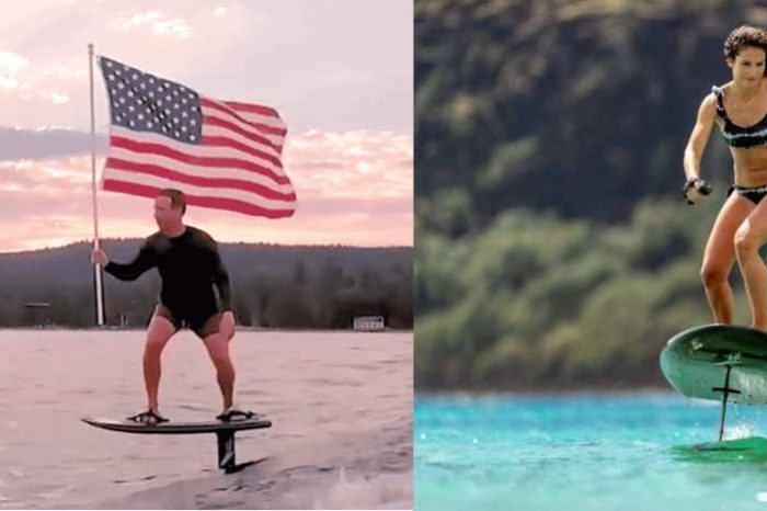 Meet Lift eFoil,the $12,000 motorized hydrofoil surfboard Mark Zuckerberg used to celebrate 4th of July; travels at speed of 25 mph