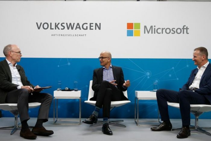 Volkswagen to use Microsoft Corp's cloud to develop autonomous vehicle driving systems