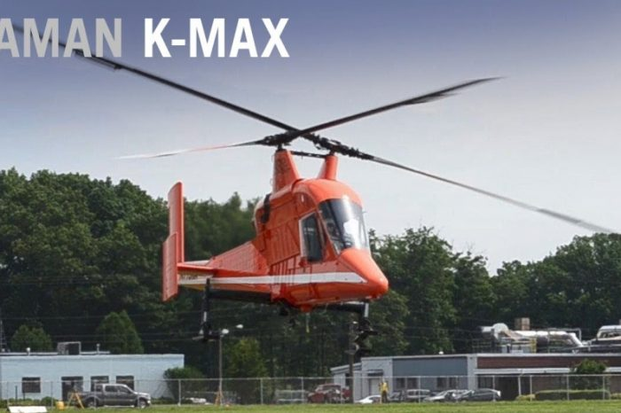 Watch the KAMAN K-MAX,the world's first dual intermeshing helicopter that eliminates the need for a tail rotor