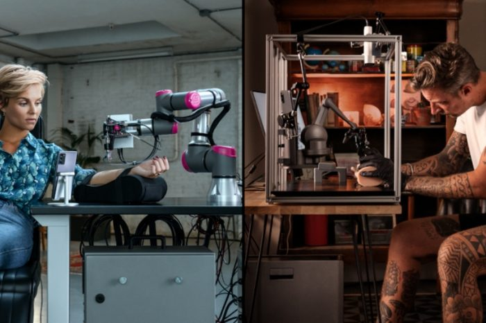 Meet The Impossible Tattoo, the world's first real-time remote tattoo powered by needles, 5G-powered robotic arms, ink
