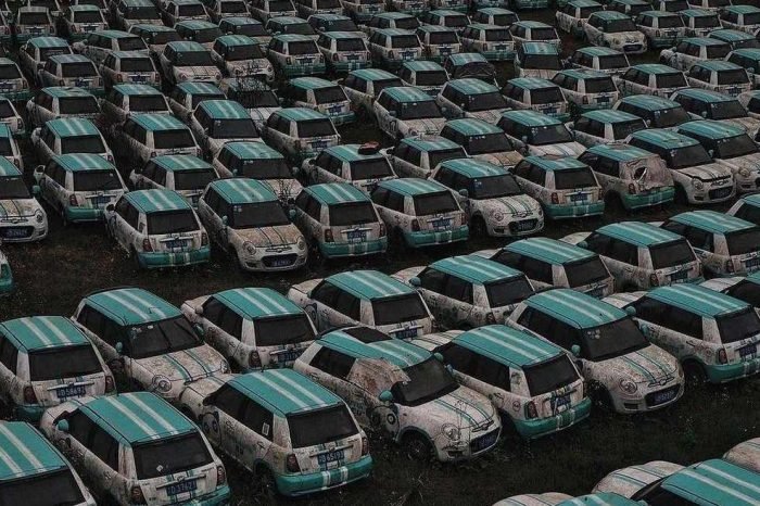 This Chinese electric car tech startup left its car lot to rot after filing for bankruptcy
