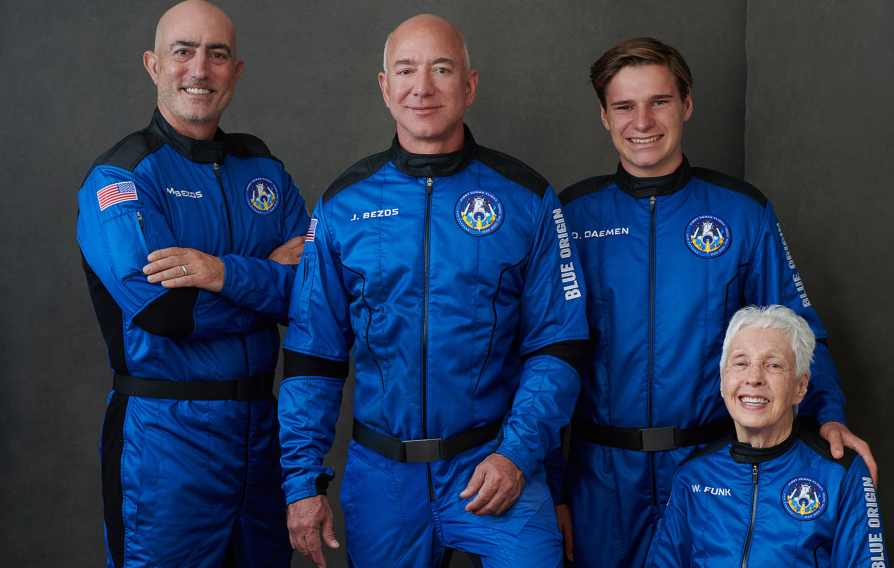 Jeff Bezos reaches the edge of space on Blue Origin's historic suborbital flight and safely returned to Earth