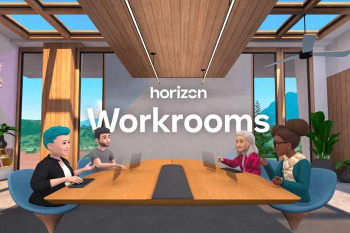 Facebook launches Horizon WorkRooms, a VR remote work app the company calls a step to the 'metaverse'