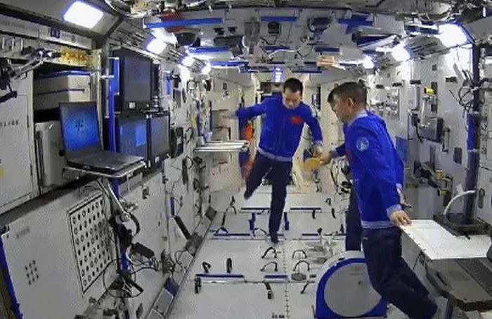 Watch: Chinese astronauts playing table tennis in China's new space station