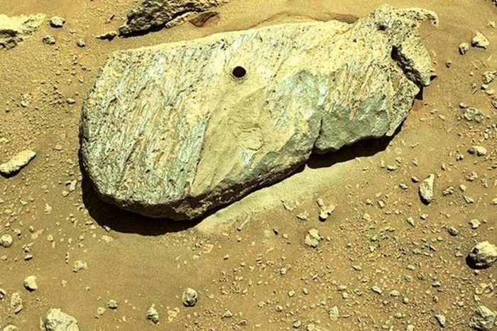 NASA's Perseverance Rover collects the first-ever rock sample from Mars
